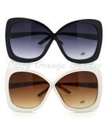 OVERSIZED Womens Sunglasses BUTTERFLY Cross Ove... - $10.95