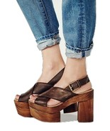 FREE PEOPLE 40 9 9.5 Sandals Mono Platform Clog... - $140.00