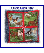 **NEW**Customized 4-Patch Scenic Pillow* - $35.00