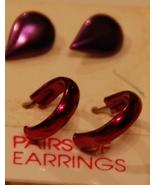 Shades of Purple Metallic Post Earrings FREEBIE - $0.00