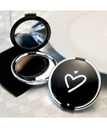 Styling Black Heart Compact Mirror Wedding Favo... - $1.80