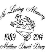 In Loving Memory Memorial Vinyl Graphic Sticker... - $13.00