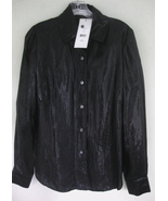 NWT Long black shimmery shirt 8 $348 Charles No... - $99.99