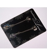 Sterling and Crystal Post Dangle Earrings - $15.00