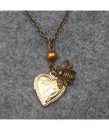 Handmade  HEART LOCKET & LITTLE BEE & FRESH WAT... - $12.99
