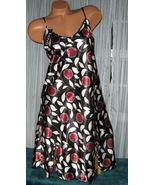 Black Floral Burst Chemise Short Gown 1X 2X 3X ... - $12.50