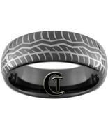 8mm Black Dome Tungsten Carbide Tire Tread Desi... - $49.00