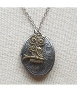 Handmade   OVAL LOCKET & OWL ON THE BRANCH CHAR... - $12.99