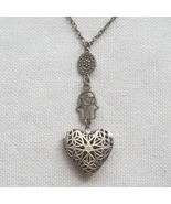 Handmade   HEART LOCKET & HAMSA HAND NECKLACE - $12.99