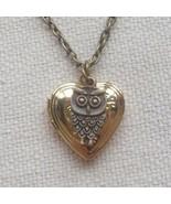 Handmade HEART LOCKET & LITTLE OWL CHARM NECKLACE - $12.99