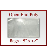 100 Open End Flat Poly Bags 8 x 12 inches USDA ... - $18.48