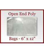 200 Open End Flat Poly Bags 6 x 12 inches USDA ... - $19.98