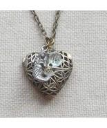 Handmade FILLIGREE HEART LOCKET PENDANT & MERMA... - $13.99