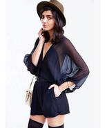Fashionista Chic Sheer Sleeves Black Chiffon Ju... - $71.90 - $71.90