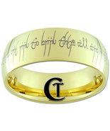 9mm Gold Dome Tungsten Carbide LOTR One Ring De... - $49.00