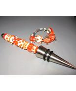 Lampwork Wine Charm/Bottle Stopper Set - $50.00