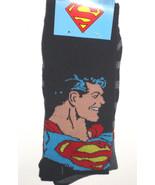NEW Superman & Stripe Socks TWO PACK 2 pair DC ... - $10.26