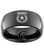 9mm Black Dome Tungsten Carbide Police Badge De... - $49.00
