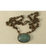 Faux Turquoise and Silver Tone and Brown Bead N... - $5.00