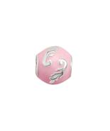 Sterling Silver Story Beads Pink Enamel Bead wi... - $33.00