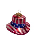 Cherry Designs Blown Glass July 4th Ornament US... - $14.95