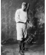 Babe Ruth In Uniform Holding Baseball Bat 1920 ... - $19.99