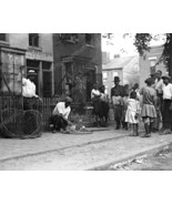 Dog Catcher W Dog In Net & Black Crowd 8x10 Rep... - $19.99
