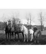 Children Horseback Riding 1923 Vintage 8x10 Rep... - $19.99