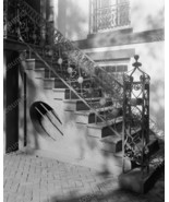 Iron Stair Case Railings 1940's Vintage 8x10 Re... - $19.99