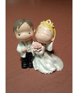 Wedding Cake Topper Bride and Groom Happy coupl... - $15.99