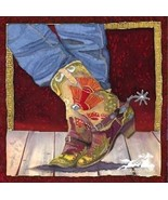 Boot Fancy by Nancy Cawdrey Western Cowgirl Cow... - $222.75