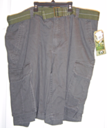Men's Charcoal Gray Cargo Shorts Size 38 Still ... - $29.95