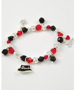 Kids girl black red charm stretch bracelet I lo... - $9.89