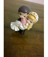 Wedding Cake Topper Bride and Groom Happy coupl... - $12.99
