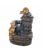 Outdoor Water Fountain Chipmunks on Rocks  - $134.00