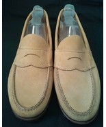 GH Bass Camel Tan Suede Penny Loafers Sz 8.5 We... - $28.70