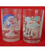 2 Walt Disney World 25th Anniversary Glasses - ... - $2.00