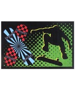 Skateboard Jumping Area Rug Sports Fun Black Ac... - $29.99 - $74.99