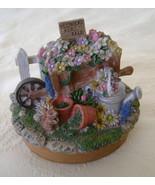 Garden Flower Cart, Jar Candle Topper, Resin, S... - $15.00