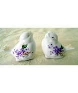 Bone China Bird Salt & Pepper Shaker Set, Lilac... - $20.00