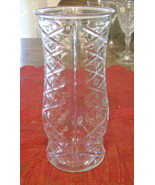 Vintage E O Brody Tall Diamond Pattern Clear Gl... - $9.90