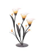 Amber Lilies Tealight Holder - $25.00
