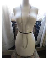 Vintage Monet Silver Tone Chain Necklace 55
