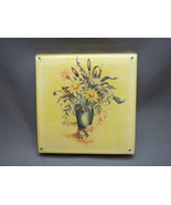 VTG Large Powder Compact Lucite Yellow Flower F... - $29.99