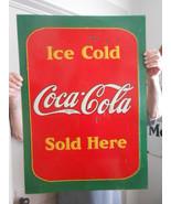 Vintage Sign Coca-Cola Metal Embossed 28x20