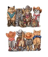 Cowboy Cats  Front and Back Print   Tshirt   Si... - $12.82 - $16.78