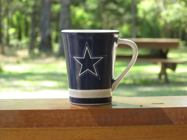 Ceramic Shot Glass Mini Cup Dallas Cowboys Football Blue Star