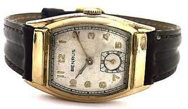 Vintage Benrus Tank 14K Yellow Gold Filled Beze... - $222.75