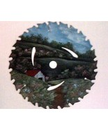 Saw Blade Spring Pastures in Oils Custom Order ... - $34.00
