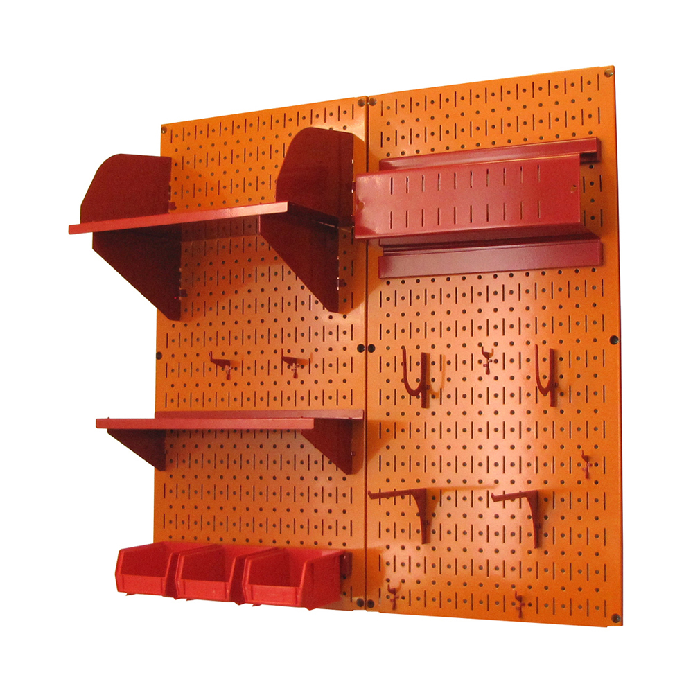 Craft Pegboard Organizer Storage Kit With Orange Pegboard ...